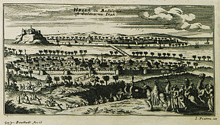 "1690 view of Mosul (""Hella in Babylonie"")"