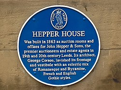 Photo of John Hepper and George Corson blue plaque