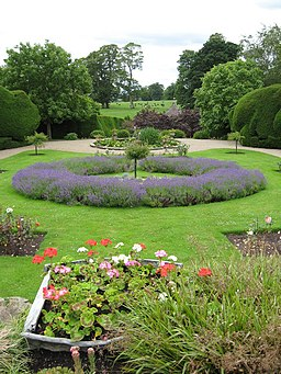 Herbaceous borders, Raby Castle - geograph.org.uk - 1403813