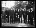 Herbert Hoover and group and cup outside White House, Washington, D.C. LCCN2016889701.jpg