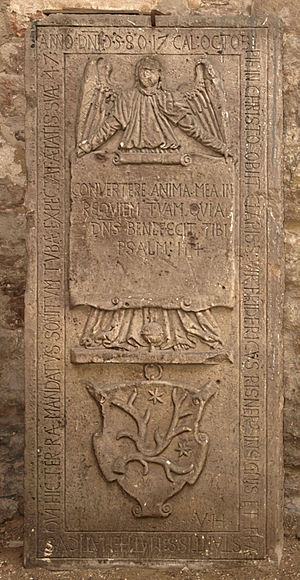 Friedrich Risner - Gravestone from Friedrich Risner in Hersfeld Abbey