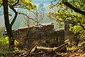 Hessigheim - Felsengärten - Blick vom Pfad über Kluft und Fels auf Weinberge.jpg