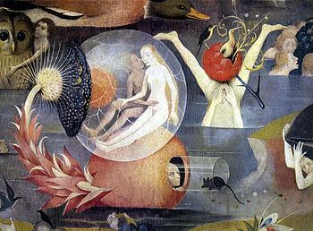 Hieronymus Bosch, Garden of Earthly Delights tryptich, centre panel - detail 9.JPG