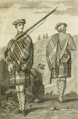 Scottish regiment - Highland soldiers, c. 1801