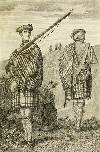 Scottish regiment - Depiction of a Highland soldier in 1801.