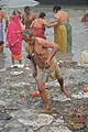 Hindu Devotee Returning After Holy Dip In Ganga - Makar Sankranti Observance - Kolkata 2018-01-14 6708.JPG