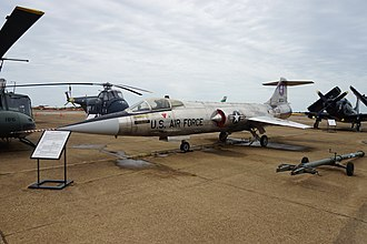 Tyler Pounds Regional Airport - Lockheed F-104A Starfighter on display at the Historic Aviation Memorial Museum