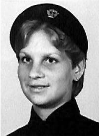 e342e59c7a18e Female U.S. Navy sailor wearing the women-only black beret which was  discontinued in 2016