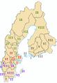 Historical provinces of sweden no national borders.png