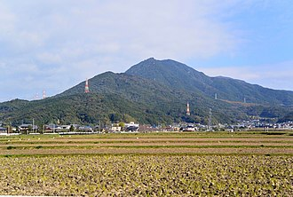 Mount Hōman - A view of Mount Hōman from the south.