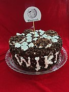 Home Made Wikipedia 20 birthday Cake by Mardetanha (2) 01.jpg