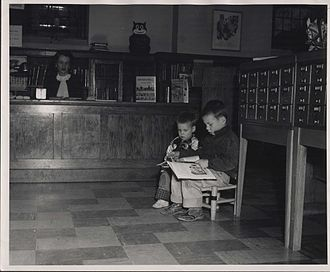 Hosmer Library - Boys using the library