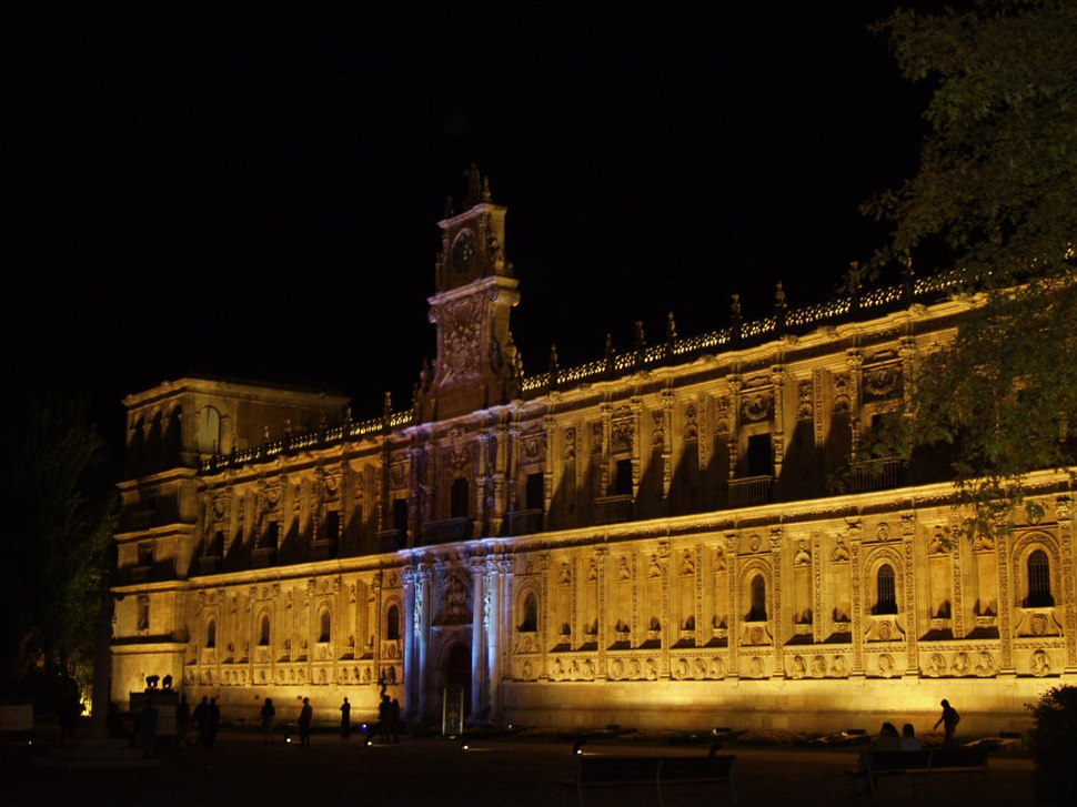 Hostal de San Marcos de León vista nocturna