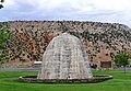 Hot Spring Dome, Hot Springs Park,Wyoming USA (2004-08-06) ❀ さむい雲がいそぐ(種田山頭火) - panoramio.jpg