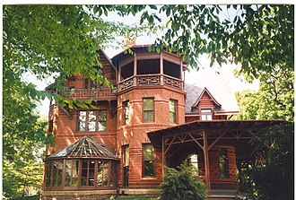 Mark Twain - Twain house in Hartford, Connecticut