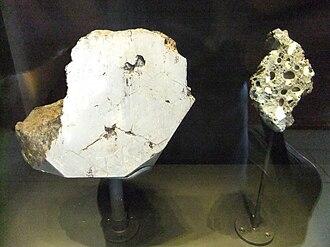 Hraschina meteorite - Image: Hraschina meteorite, Natural History Museum, London