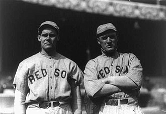 "Dutch Leonard (left-handed pitcher) - Hubert ""Dutch"" Leonard (left) and Bill Carrigan, 1916"