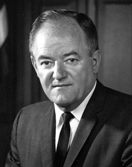 Hubert Humphrey (D-Minnesota) was the first Deputy President pro tempore in 1977-1978 Hubert Humphrey crop.jpg