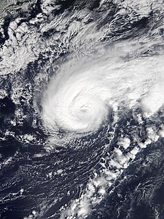 Hurricane Humberto (2019) Category 3 Atlantic hurricane that affected Bermuda
