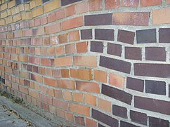 """Parte exterior del muro """"schief"""" (sesgados)..."""