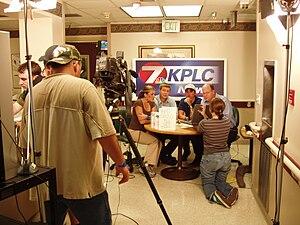KPLC - KPLC's makeshift studio during Hurricane Rita coverage