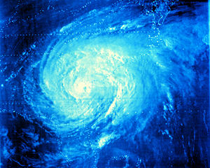 Hurricane David - Hurricane David making landfall in Georgia on September 4