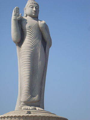 Buddha Statue of Hyderabad - Image: Hussain sagar lake