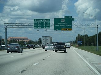 Interstate 4 - I-4 westbound approaching SR 535 in Lake Buena Vista