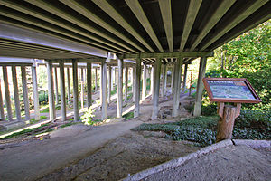 I-5 Colonnade - East side of the park with map