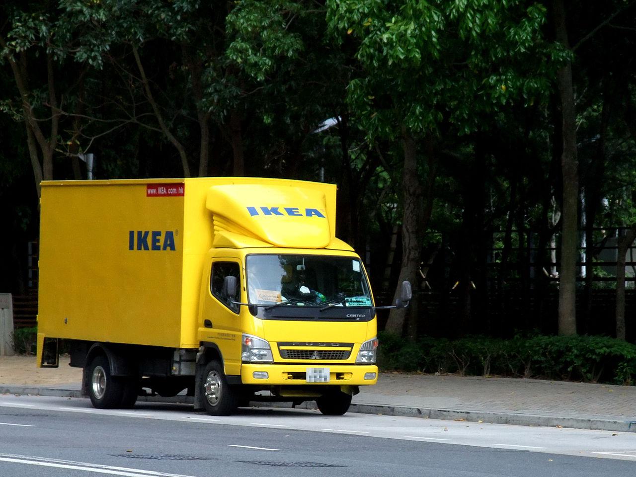 file ikea mitsubishi fuso canter delivery
