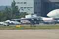 IL-76T (YL-LAL) & Myasishchev M-55 RF-55204 (8744395721).jpg
