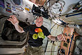 ISS-44 Scott Kelly enjoying some fresh fruit and vegetables.jpg