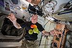 ISS-44 Scott Kelly enjoying some fresh fruit and vegetables.jpg
