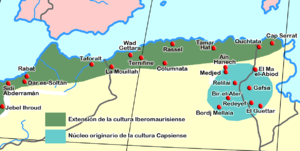 Capsian culture - The main sites of the Iberomaurusian and Capsian cultures in north Africa