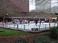 Ice skating rink and Christmas lights in Kleman Plaza Jan 2015 02.JPG