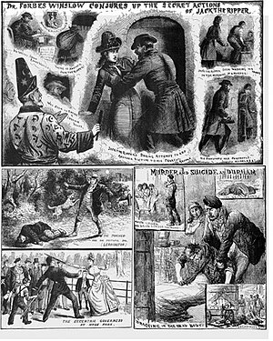 L. Forbes Winslow - Forbes Winslow conjures up the secret actions of Jack the Ripper, from the Illustrated Police News