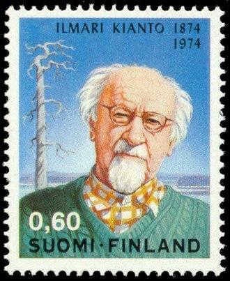 Ilmari Kianto - Ilmari Kianto portrayed on a postage stamp published in 1974.