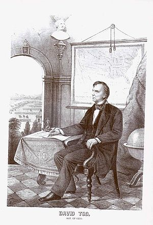 David Tod - David Tod as governor of Ohio