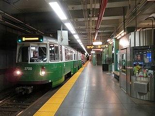 Kenmore station Boston, Massachusetts light rail station