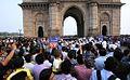 Indian Navy Band performing at the Gateway of India, Mumbai in 2015 (2).jpg