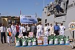 Indian Navy donates of relief aid to the victims of the Ambilobe Fire Disaster in Madagascar (3).jpg