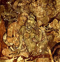Fresco from Ajanta, 6th century