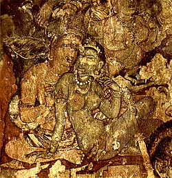 A painting in Ajanta caves