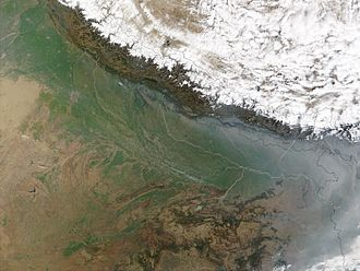 Indo-Gangetic Plain - A part of the Indo-Gangetic Plain over Northern, Central and Eastern India as well as Bangladesh