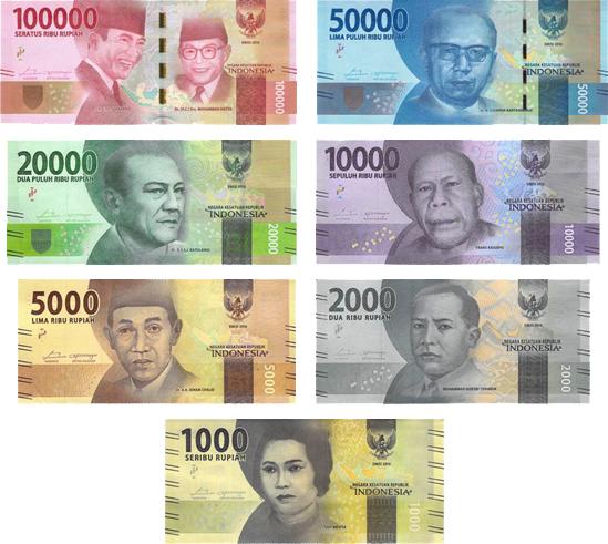 Indonesian Rupiah (IDR) banknotes