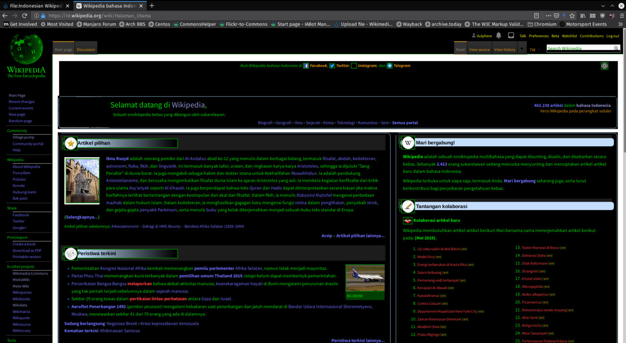File Indonesian Wikipedia Dark Mode Screenshot Png Wikimedia Commons