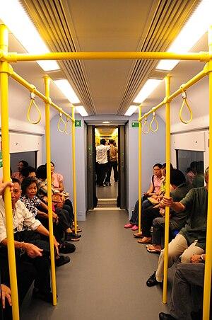 Airport Rail Link (Bangkok) - Image: Inside sarl cityline