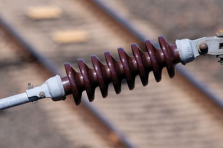 Electrical insulator used at railways