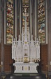 interieur koor, overzicht neogotisch altaar - lith - 20334158 - rce