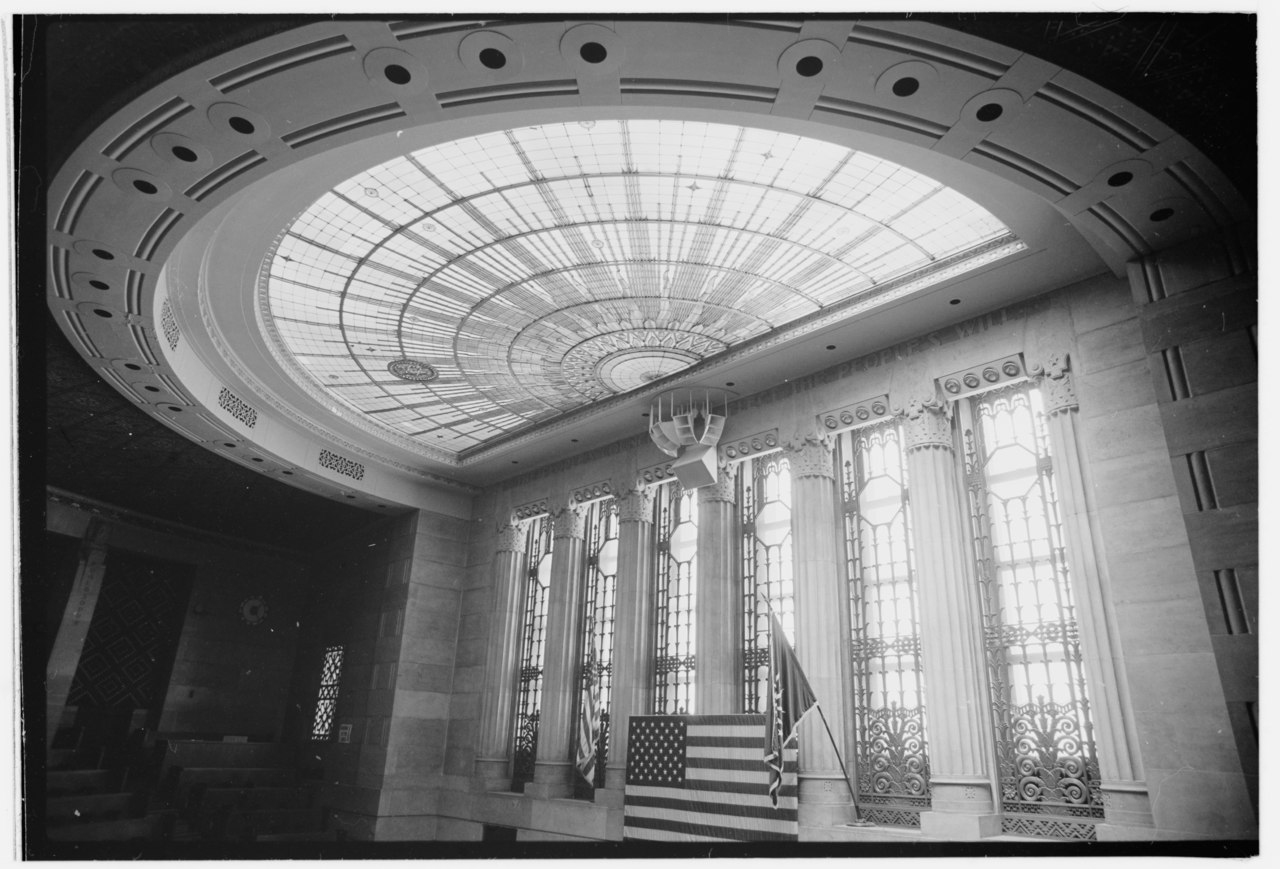 File Interior Thirteen Floor Council Chamber Art Glass